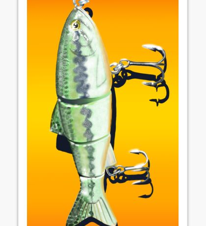 Fishing Lure (vertically oriented) Sticker
