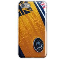 Yellow and Navy Lotus iPhone Case/Skin