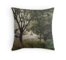 Walking to Hellington Hill Throw Pillow