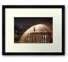 Bridge on fire Framed Print