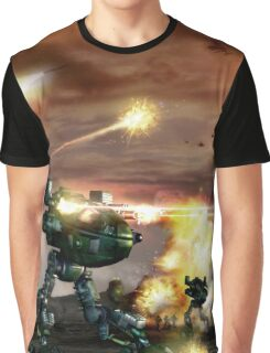 Mech Battle Graphic T-Shirt