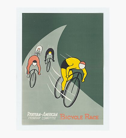 Vintage poster - Bicycle Race Photographic Print