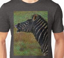 Snorting Zebra - Coloured Pencil Unisex T-Shirt