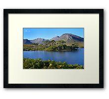 Derryclare Lough Connemara. Framed Print