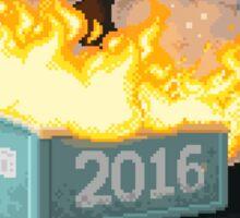 2016 can burn Sticker