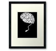 USB Brain Unplugged T Shirt Framed Print