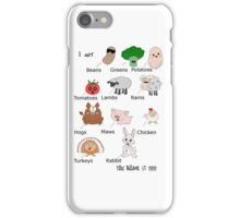 Beans, Greens, Potatoes, Tomatoes Rap iPhone Case/Skin