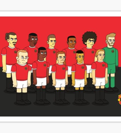 Manchester United as simpson Sticker