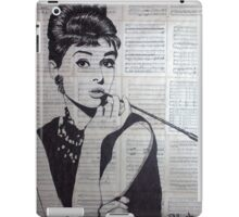 old book drawing famous people Audrey iPad Case/Skin