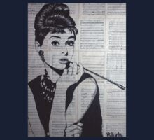 old book drawing famous people Audrey Baby Tee
