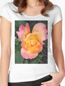 flowers vegetable spring garden Women's Fitted Scoop T-Shirt