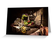 Fruits by Window Light Greeting Card