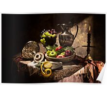 Fruits by Window Light Poster