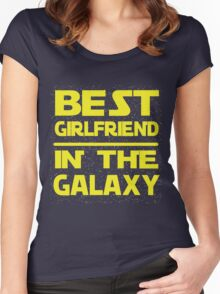 Best girlfriend in the Galaxy Women's Fitted Scoop T-Shirt