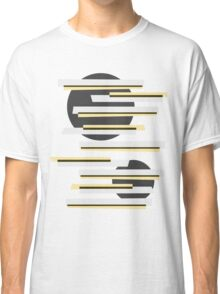 Modern abstract boxes and circles pattern Classic T-Shirt