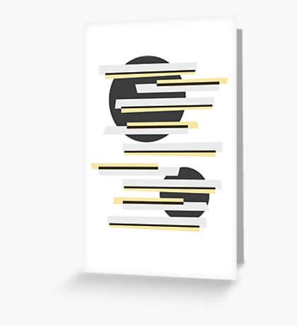 Modern abstract boxes and circles pattern Greeting Card