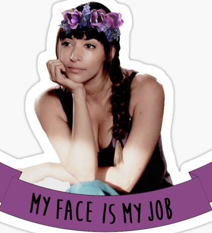Cece | My Face Is My Job Sticker