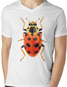 Orange Beetle Mens V-Neck T-Shirt