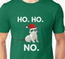 Ho. Ho. No. Funny Christmas Cat Unisex T-Shirt