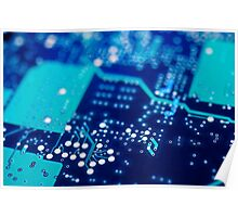 Circuit board background. Poster