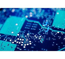 Circuit board background. Photographic Print