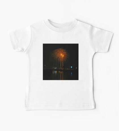 Orange fireworks over the river Baby Tee