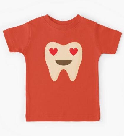 Teeth Heart and Love Eyes Kids Tee