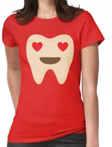 Teeth Heart and Love Eyes Womens Fitted T-Shirt