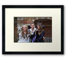 Sonia, Marc Baylis and Zoe Birkett in Sleeping Beauty Framed Print