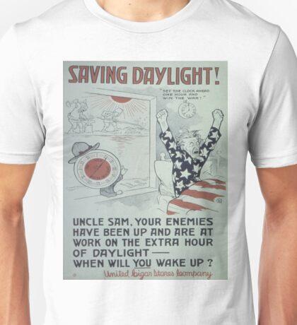 Vintage poster - Saving Daylight! Unisex T-Shirt