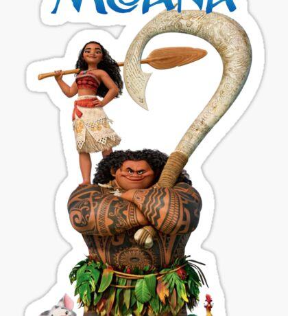 Moana and Maui Sticker