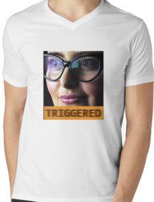 TRIGGERED FEMINIST MEME Mens V-Neck T-Shirt