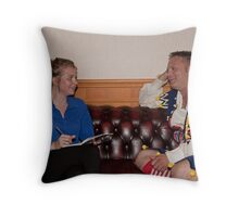 Annie Roberts interviews Jamir Rickers Throw Pillow