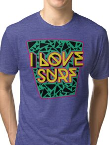 i love surf Tri-blend T-Shirt