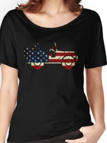 Jeep Classic (Flag Design) Women's Relaxed Fit T-Shirt