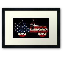 Jeep Classic (Flag Design) Framed Print