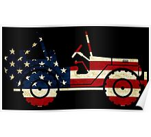 Jeep Classic (Flag Design) Poster
