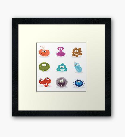 Germs. Swine flu, cancer, staphylococcus, trojan virus Framed Print