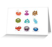 Germs. Swine flu, cancer, staphylococcus, trojan virus Greeting Card