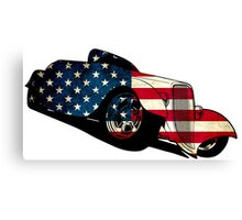 classic car flag design Canvas Print
