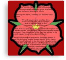 Scarlet Pimpernel - Sir Percy Blakeney's Poem Canvas Print