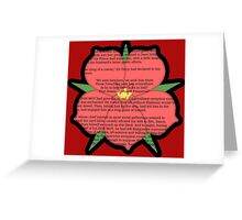 Scarlet Pimpernel - Sir Percy Blakeney's Poem Greeting Card