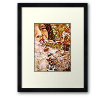 Puffing with Passion. Framed Print