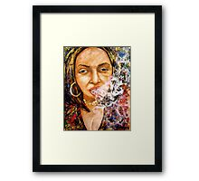 Tree and her Puros Framed Print