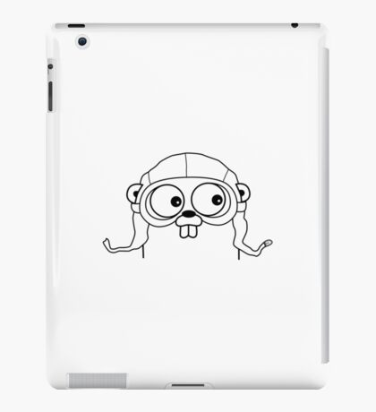 Go Language with headgear iPad Case/Skin