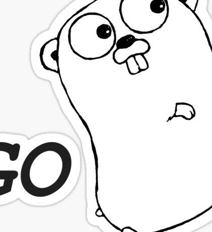 Go Language Running Sticker