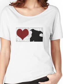 Love Staffy Dog Women's Relaxed Fit T-Shirt
