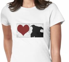 Love Staffy Dog Womens Fitted T-Shirt