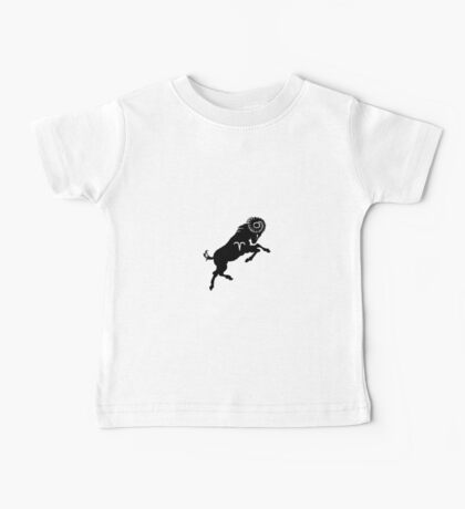 A cool Aries Zodiac Sign Design Baby Tee