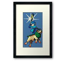 Go-Goat and Mega Man Framed Print